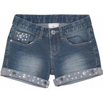 Short Jeans Infantil Cristais Marisol