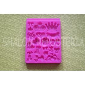*molde Silicon Coronas Princesas Moños Pasta Cupcake Fondant