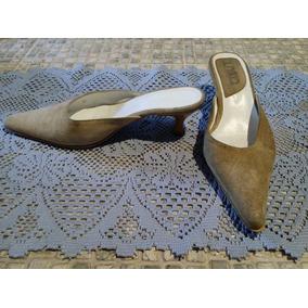 Calzado De Gamuza Tipo Sueco Para Dama. Nro 37. Color Beige
