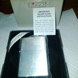 Encendedor Yesquero Zippo Original - Modelo Silver Plate