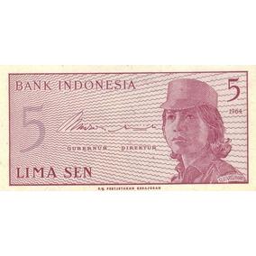 Indonédia - 5 Sen De 1.964 - Fe - Frete 12,00