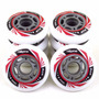 Kit 8 Roda Crème Patins Roller Inline 76mm - Profissional