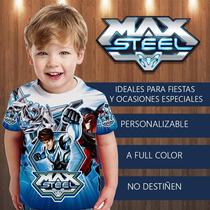 Maxsteel Camisa Franela Cotillon Fiesta Invitacion Regalo