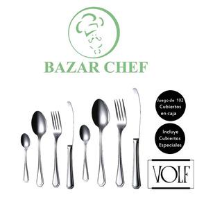 Volf - Carat Set Juego De Cubiertos 102 Piezas - Bazar Chef