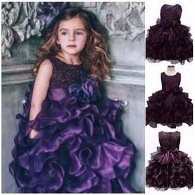 Vestido Infantil Longo Luxo Dama Honra Festa Frete Gratis