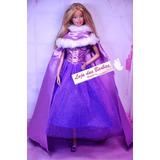 Vestido Rapunzel Luxo Para Boneca Barbie * Princesas Disney