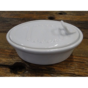 Mini Porcelana Oval Com Tampa Finger Food, Material Buffet
