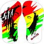 10 Chinelo Personalizado Tema Do Reggae Jamaica Bob Marley