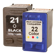 Cartuchos   21 Bk + 22 Color  F4180 D2360 J3680