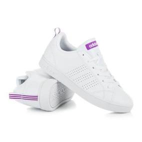 Tenis adidas Advantage Blancos/morados 100% Originales