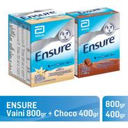 Ensure En Polvo Vainilla 800 Gr + Chocolate 400 Gr