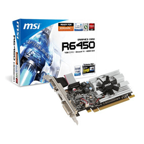 Placa De Video Msi Raedon 1gb Hd 6450 Pcie Ddr3 Hdmi Vga Dvi