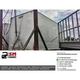 Bau Aluminio 4,30m Assoalho Chapa