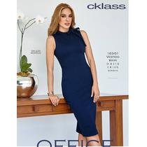 Vestido Cklass Azul Marino Otoño 2016 Nuevo Envio Gratis