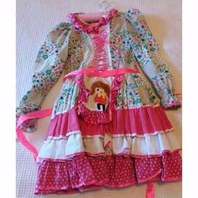 Vestido Infantil Festa Junina Envio Imediato .