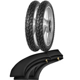 Kit Pneu Pop Biz 100 125 275-17 + 80/100-14 Courier Pirelli