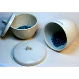 Crisol 30 Ml Con Tapa Porcelana Pared Alta Laboratorio