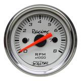 Contagiros Rpm Tacometro 52mm Willtec Branco Maverick V6 V8