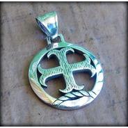 Atacado 10 Pcs ! Pingente Cruz Templária Templar Cross Prata
