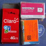 Paquete 40 Sim Card 15 Movistar, 20 Claro, 5 Avantel Prepago