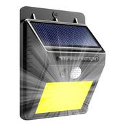 Aplique Reflector Led Panel Solar Sensor Movimiento Cob