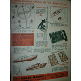 Publicidad Clipping Juguetes Aguilucho Carabina Ovni Lanchas