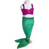 Disfraz Ariel La Sirenita Princesas Primera Calidad
