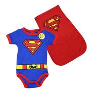 Pañalero Superman Clásico Capa Original Disfraz Bebé 89330