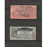 Par De Billetes De Ferrocarril Coahuila Y Zacatecas
