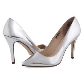 Zapatillas Jennifer Lopez Plateadas Pr-8061242