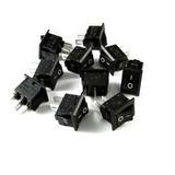Mini Switch Interruptor De Balancín Negro 10x15mm C/u