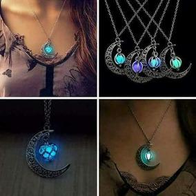 Collar Luna Brilla En La Oscuridad Amor Regalo