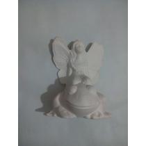 Hada De Yeso Ceramico Blanco Para Pintar