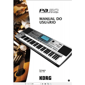 Manual Em Português Korg Pa-50 Completo.