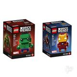 Lego Brick Headz Paquete Ironman Y Hulk. Nuevos Y Originales