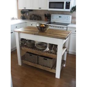 Mesa tipo isla para cocina mesas de cocina en mercado for Mesa auxiliar isla de cocina