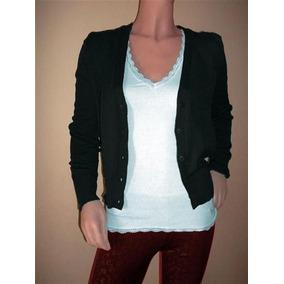 Saquito Sweater De Hilo Y Lycra Color Negro