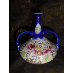 Vaso Ou Anfora - Floral - Azul Cobalto