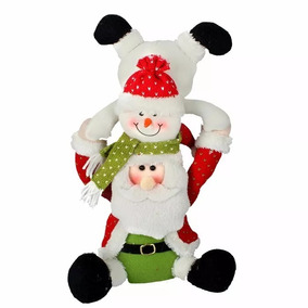 Enfeite De Natal Papai Noel Boneco De Neve