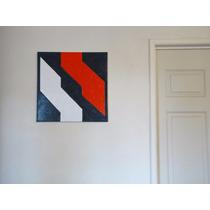 Cuadro Al Oleo 50x50 Arte Moderno Abstracto Minimalista