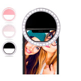 Aro Luz Led Celular Foto Selfie Flash Smartphone Colores