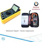 Multimetro Alicate Amperímetro + Multimetro Digital 9205