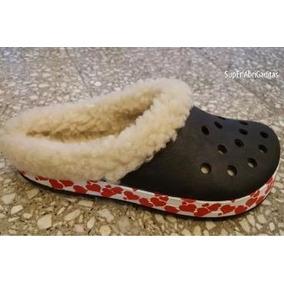 Suecos Con Corderito Invierno Abrigados Crocs Pantuflas