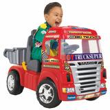 Caminhão Elétrico Magic Toys Big Truck 6v - Vermelho + Brind
