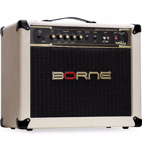 Amplificador Borne Vorax 1050 50w Cor Creme + Fonte 5 Pedais