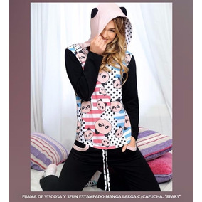 Pijama Marcela Koury Con Capucha Panda, Harika Lencería