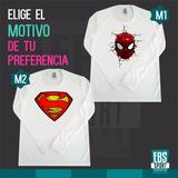 Camiseta Buso Capitan America Super Man Batman Spider Man