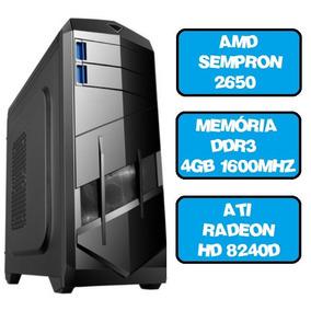 Cpu Gamer Sempron Dual Core 2650 4gb Ati Radeon 8240d