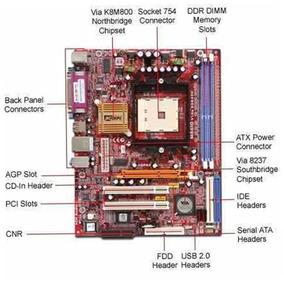 Placa Mãe M861g V16a + Proc. 2.80ghz+ Memória Ddr1 512