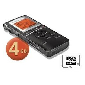 Panasonic Rr-xs450 Gravador Digital De Audio Voz +4gb Usb